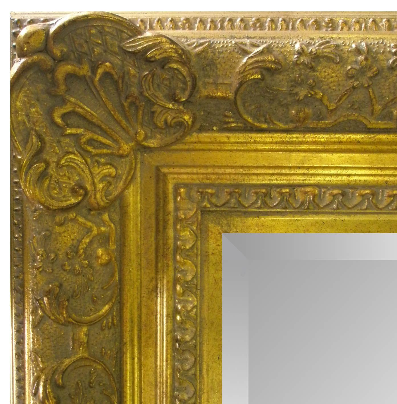 Nice Rectangle Hammered Metal Decorative Wall Mirror Silver Ptm ...